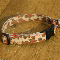 Warm Gingerbread  Cat Collar