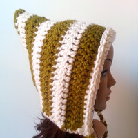 Pixie Hood Hat - Lemongrass - Made to order