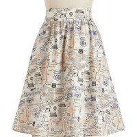 Back to Your Routes Skirt | Mod Retro Vintage Skirts | ModCloth.com