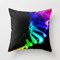 Rainbow smoke Throw Pillow by Nicklas Gustafsson | Society6