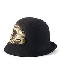 Feathered Cloche Hat - Hats & Scarves - JEWELRY & ACCESSORIES - Jessica Simpson Collection