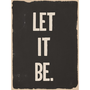 Inspirational Art Print : Let It Be Word Art