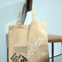 feel like helvetica tote