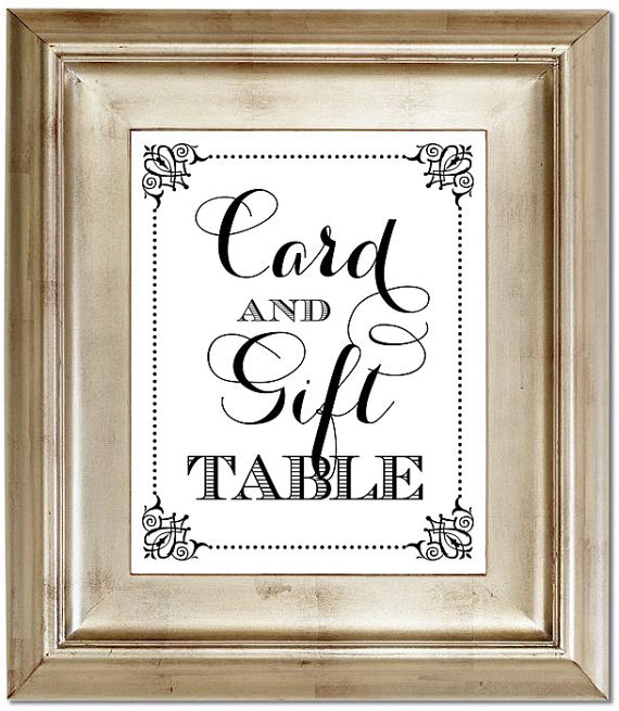 Wedding Gift Table Sign : Displaying (18) Gallery Images For Wedding Gift Table Sign...