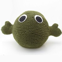 Green Toy Hug Monster by NattyKnits on Etsy