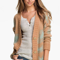 Blu Pepper Oversized Leopard Spot Cardigan (Juniors) | Nordstrom