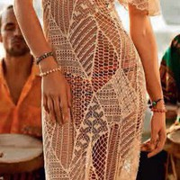 Saha - Caribbean Beat Dress Natural | ShopMiamiStyle