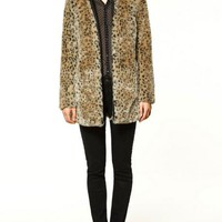 Leopard Zip Jacket | Choies