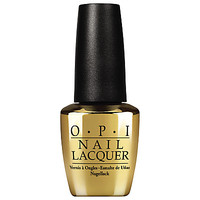 Buy OPI Nails The Man With the Golden Gun - 18ct Gold Leaf Top Coat, 15ml online at JohnLewis.com