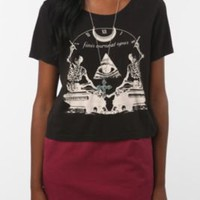 UrbanOutfitters.com > Truly Madly Deeply Finis Skeleton Evil Eye Crop Tee
