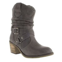 Priceless Womens Grey Cowboy Mid Heel Boots: Amazon.co.uk: Shoes  Accessories