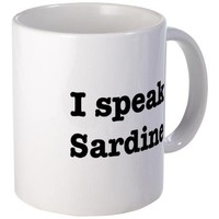I speak Sardine Mug on CafePress.com