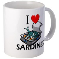 I Love Sardines Mug on CafePress.com