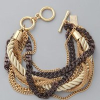 Juliet &amp; Company Gold &amp; Cognac Chains Bracelet | SHOPBOP