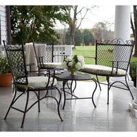Iron Outdoor Seating Set With Cushions - Plow & Hearth