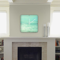 DENY Designs Home Accessories | Lisa Argyropoulos Where Ocean Meets Sky Custom Clock