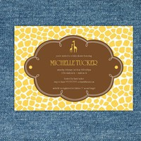Giraffe Yellow and Brown Baby Shower Printable by stockberrystudio