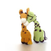 Dreamy Giraffes  Amigurumi Pattern by irenestrange on Etsy