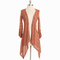 raking leaves striped asymmetrical cardigan - $32.99 : ShopRuche.com, Vintage Inspired Clothing, Affordable Clothes, Eco friendly Fashion