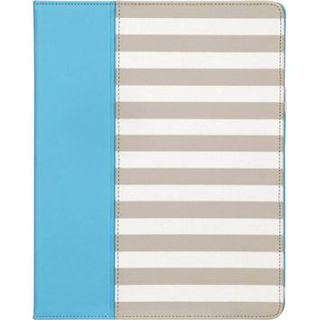 Griffin Technology - Cabana Folio Case for Apple® iPad® 2 - White/Beige/Pool Blue