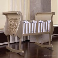 Bratt Decor Chelsea Cradle in Antique Silver