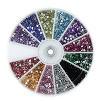 Amazon.com: MASH Rhinestones 2400 Piece 12 Color Nail Art Nailart Manicure Wheels: Health & Personal Care