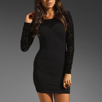 Motel Elsa Dress in Baroque Black from REVOLVEclothing.com