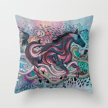 Poetry in Motion Throw Pillow by Mat Miller | Society6