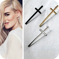 New Arrive Retro Earring Temperament Cross Ear Nail Lovers Stud Earring