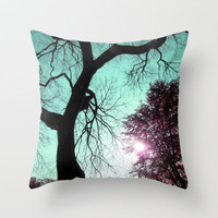 Wishing Tree Throw Pillow by Suzanne Kurilla | Society6
