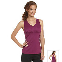 Product: Exertek® Shirred Empire Seam Racerback Bra Tank