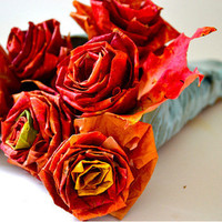 diy project: autumn leaf bouquet | Design*Sponge