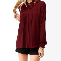 Pleated A-Line Blouse