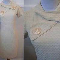 Vintage 60&#x27;s Mod Cream Dress M