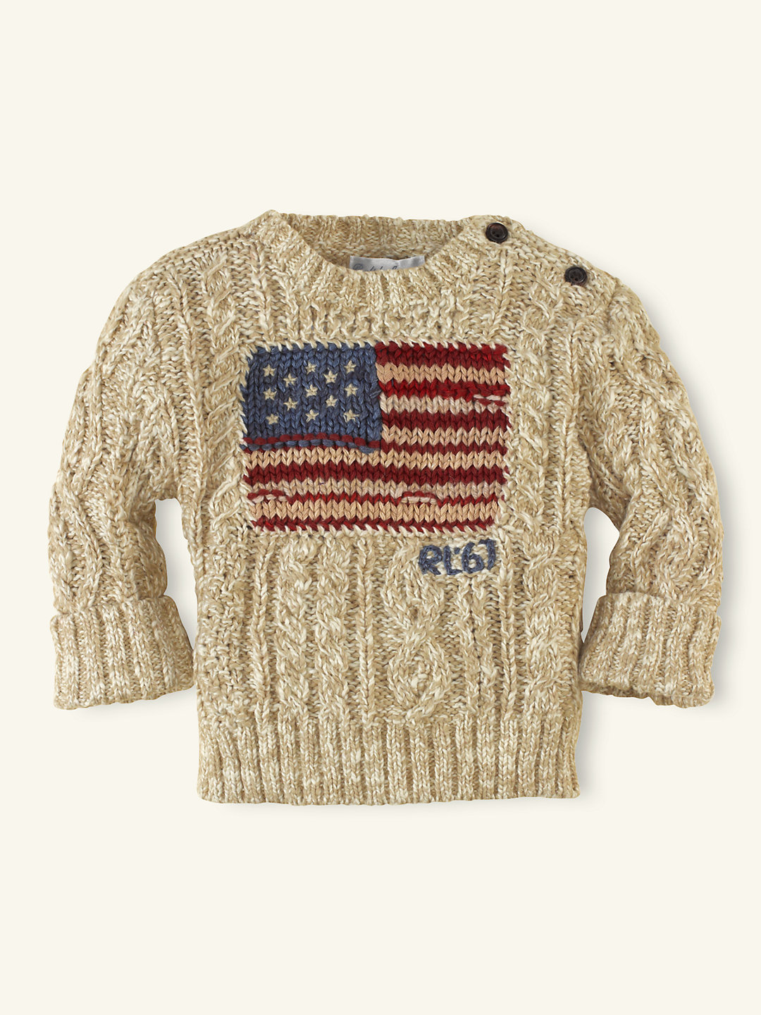 Cable-Knit Flag Sweater