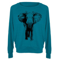 Womens ELEPHANT Tri-Blend Pullover Sweatshirt - American Apparel Sweater - S M L (8 Color Options)
