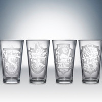 Harry Potter House Logos Pint Glass Set