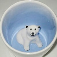 Polar Bear Surprise Mug