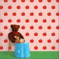 Wallcandy Arts Wallpaper Apples Pink/Red
