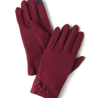 Bows and Burgundy Gloves | Mod Retro Vintage Gloves | ModCloth.com