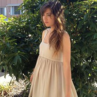 .REDUCED £30.  Cashew Cream Chiffon Bubble Dress from beccaandpeggy