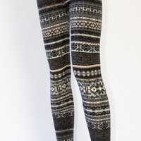 Winter Knit Leggings Grey | Late Manta