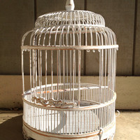 Wooden Birdcage Jewelry Display
