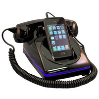 iClassic Black Cell Phone Dock and Handset | Phone Accessories | RetroPlanet.com