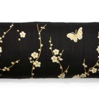One Kings Lane - Dransfield & Ross - 12x26 Shanghai Pillow, Black