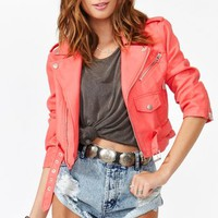 Cropped Moto Jacket