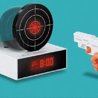 Bandai Gun O&#x27;Clock - SHOOT YOUR ALARM CLOCK TO SILENCE- SWWET GIFT: Toys &amp; Games