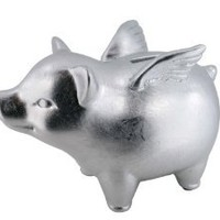 Made By Humans, Flying Piggy Bank, Silver