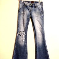 Upcycled Hollister Vintage Jeans - Size 1 - Rare Beach Edition