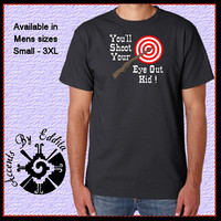 Inspired by A Christmas Story Mens T Shirt sizes S - 3XL Boys T Shirt with Nail Heads sizes XS-XL Youll Shoot Your Eye Out Kid